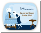 Sip and See It's a Boy - Personalized Baby Shower Rounded Corner Stickers