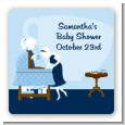 Sip and See It's a Boy - Square Personalized Baby Shower Sticker Labels thumbnail