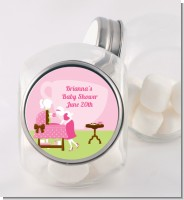 Sip and See It's a Girl - Personalized Baby Shower Candy Jar