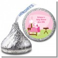 Sip and See It's a Girl - Hershey Kiss Baby Shower Sticker Labels thumbnail