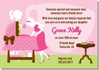 Sip and See It's a Girl - Baby Shower Invitations