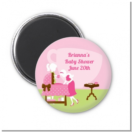 Sip and See It's a Girl - Personalized Baby Shower Magnet Favors