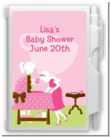 Sip and See It's a Girl - Baby Shower Personalized Notebook Favor