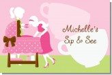 Sip and See It's a Girl - Personalized Baby Shower Placemats