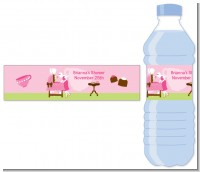 Sip and See It's a Girl - Personalized Baby Shower Water Bottle Labels