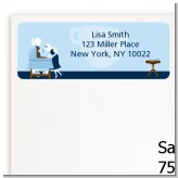 Sip and See It's a Boy - Baby Shower Return Address Labels
