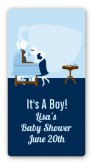 Sip and See It's a Boy - Custom Rectangle Baby Shower Sticker/Labels