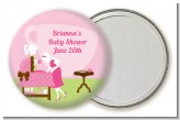 Sip and See It's a Girl - Personalized Baby Shower Pocket Mirror Favors