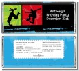 Skateboard - Personalized Birthday Party Candy Bar Wrappers thumbnail