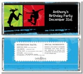 Skateboard - Personalized Birthday Party Candy Bar Wrappers