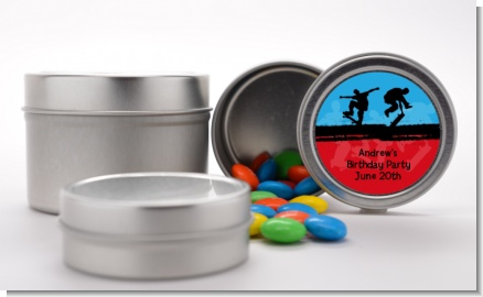 Skateboard - Custom Birthday Party Favor Tins