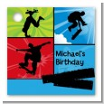 Skateboard - Personalized Birthday Party Card Stock Favor Tags thumbnail