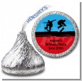 Skateboard - Hershey Kiss Birthday Party Sticker Labels thumbnail