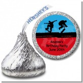 Skateboard - Hershey Kiss Birthday Party Sticker Labels
