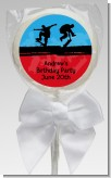 Skateboard - Personalized Birthday Party Lollipop Favors