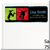 Skateboard - Birthday Party Return Address Labels