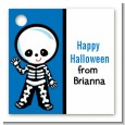 Skeleton - Personalized Halloween Card Stock Favor Tags thumbnail