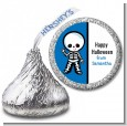 Skeleton - Hershey Kiss Halloween Sticker Labels thumbnail