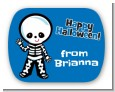 Skeleton - Personalized Halloween Rounded Corner Stickers thumbnail