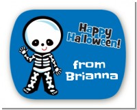 Skeleton - Personalized Halloween Rounded Corner Stickers