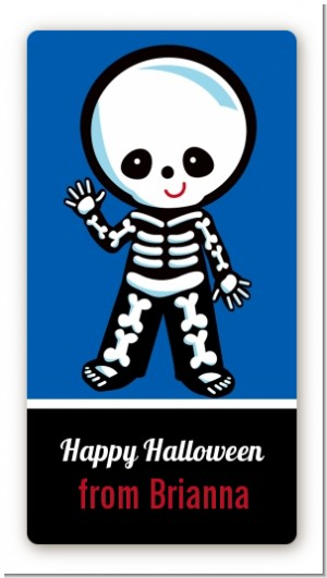 Skeleton - Custom Rectangle Halloween Sticker/Labels