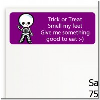 Skeleton - Halloween Return Address Labels