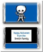 Skeleton - Personalized Halloween Mini Candy Bar Wrappers