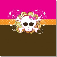Rock Star Baby Girl Skull Baby Shower Theme