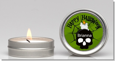 Skull and candle - Halloween Candle Favors