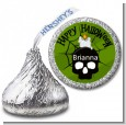 Skull and candle - Hershey Kiss Halloween Sticker Labels thumbnail