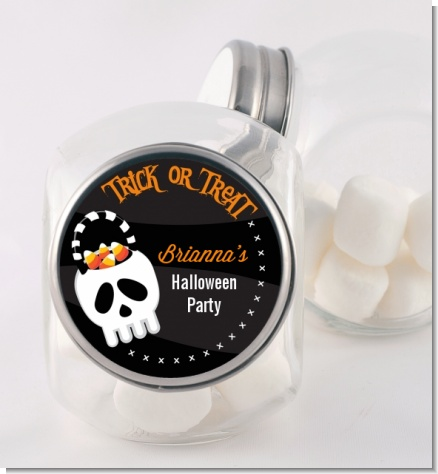 Skull Treat Bag - Personalized Halloween Candy Jar