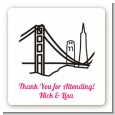 San Francisco Skyline - Square Personalized Bridal Shower Sticker Labels thumbnail