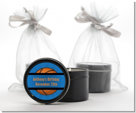 Slam Dunk - Birthday Party Black Candle Tin Favors