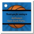 Slam Dunk - Personalized Birthday Party Card Stock Favor Tags thumbnail