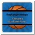 Slam Dunk - Square Personalized Birthday Party Sticker Labels thumbnail