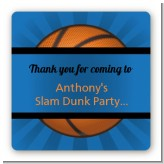 Slam Dunk - Square Personalized Birthday Party Sticker Labels