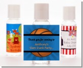 Slam Dunk - Personalized Birthday Party Hand Sanitizers Favors