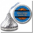 Slam Dunk - Hershey Kiss Birthday Party Sticker Labels thumbnail