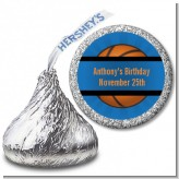 Slam Dunk - Hershey Kiss Birthday Party Sticker Labels