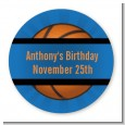 Slam Dunk - Round Personalized Birthday Party Sticker Labels thumbnail