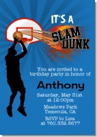 Slam Dunk - Birthday Party Invitations