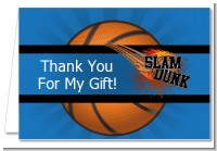 Slam Dunk - Birthday Party Thank You Cards
