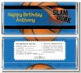 Slam Dunk - Personalized Birthday Party Candy Bar Wrappers thumbnail