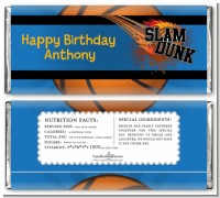 Slam Dunk - Personalized Birthday Party Candy Bar Wrappers