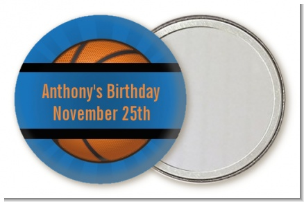 Slam Dunk - Personalized Birthday Party Pocket Mirror Favors