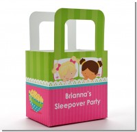 Slumber Party with Friends - Personalized Birthday Party Favor Boxes