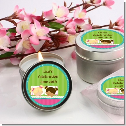 Slumber Party with Friends - Birthday Party Candle Favors