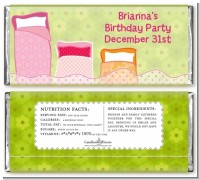 Slumber Party - Personalized Birthday Party Candy Bar Wrappers