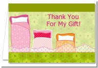 Slumber Party - Birthday Party Thank You Cards
