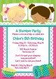 Slumber Party with Friends - Birthday Party Invitations thumbnail